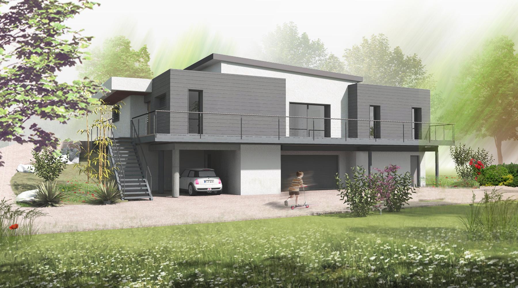 Construction maison avec ossature métal