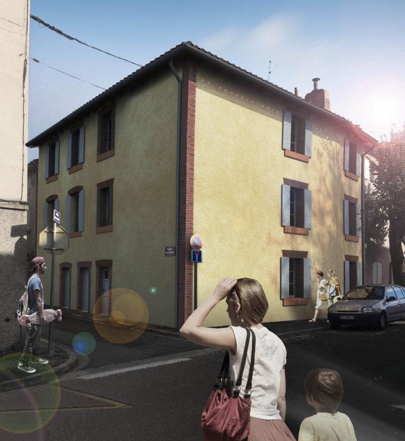 Réhabilitation d'un immeuble d'habitations ancien