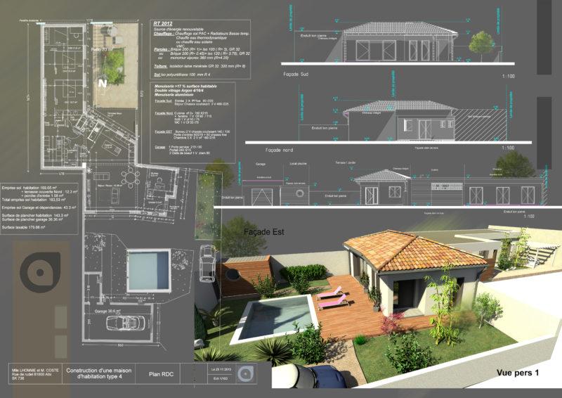 Maison d'habitation Type 4